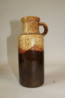 Vintage West German Lava Vase with handle light and Dark Browns 401-20 scheurich