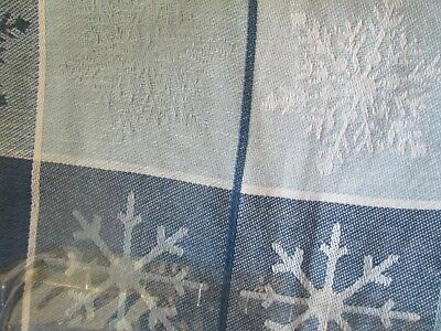 St Nicholas Square Snowflake Cotton Tablecloth 52 X 52