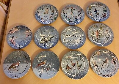 Haviland Limoges 12 Days of Christmas Collector Plates, 11 0f 12