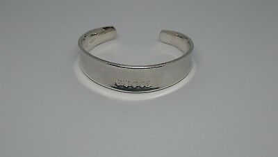 f4c4a7918 GUCCI STERLING SILVER Cuff Bracelet Bangle 6inch 38.9g - £79.99 ...