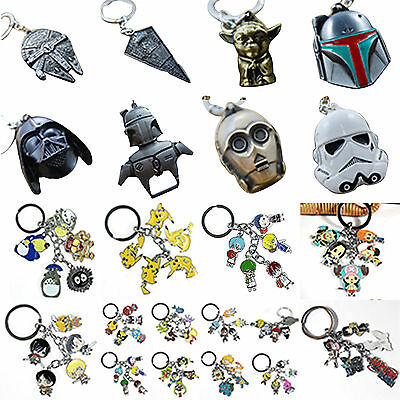 Keychain Metal Keyring Star Wars Anime Character Key Rings Pendant Collect Gifts