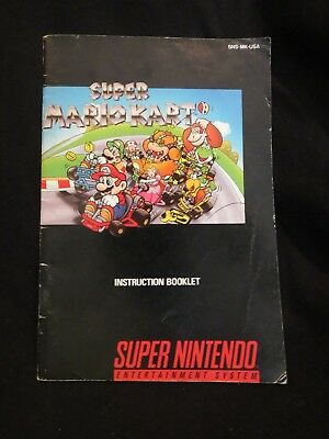 super mario kart instruction manual only snes super nintendo rh picclick com super mario world snes instruction manual Mario Kart 64