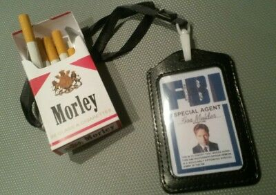 X files morley cigarettes /ID card  prop