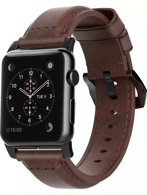 Nomad - Classic Leather Watch Strap for Apple Watch42mm - Brown New