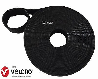 """BLACK 16MM Wide 5/8""""VELCRO® Brand ONE-WRAP® back to back Strapping cable ties"""