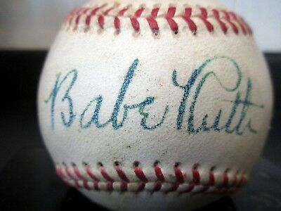 Babe Ruth Autographed 1940's Baseball