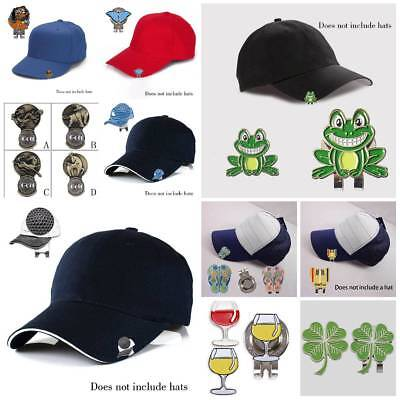 16 styles Golf Ball Marker With Magnetic Hat Clip Clamp one putt,4 leaf, Frog .~