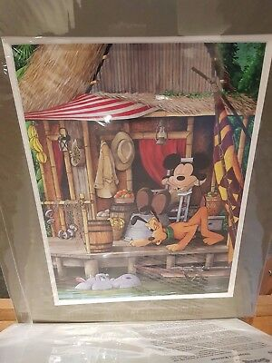 Disney Parks Jungle Cruise Mickey and Pluto Deluxe Print by Doug Bolly