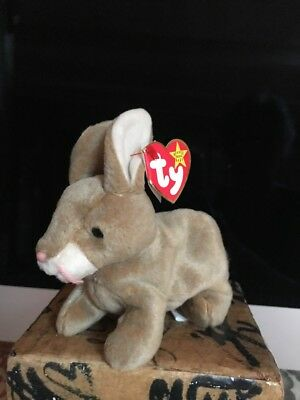 Ty Beanie Baby Nibbly The Bunny (retired-rare). DOB 5-7-98. MWMT. Tag Errors.