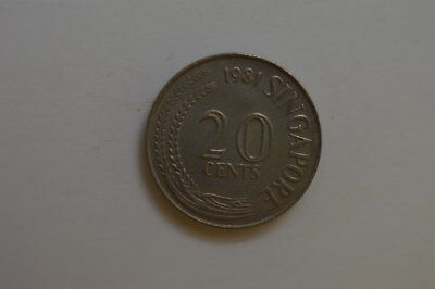 Singapore 1981 20 Cent -----Coin
