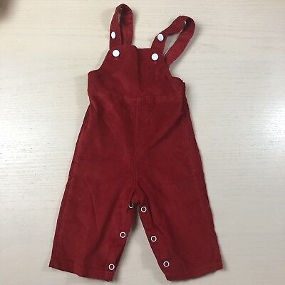 Vintage Sears Red Corduroy Overalls 12 Months Baby Boy Christmas