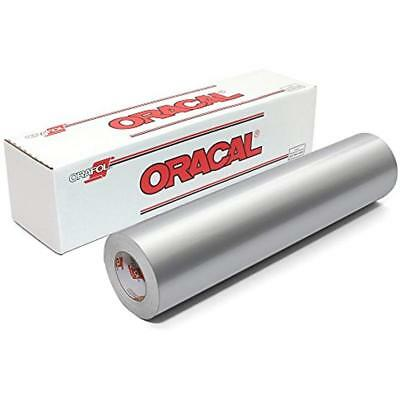 Adhesive Sheets ORACAL 651 Glossy Vinyl Roll 24 Inches By 150 Feet - Silver Grey