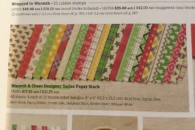 Stampin Up DSP (designer series paper Stack) Warmth & Cheer 6x6""