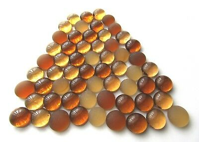 60 x Shades of Nature Earth - Frosted & Translucent Glass Mosaic Gem Stones