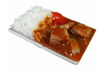 Business card holders desk accessories office supplies office food sample business card case made by japanese craftmans curry rice ip 188 colourmoves