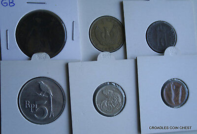 6 X Mixed World Coin's General Mix Modern World In 2X2 Holders #vry20