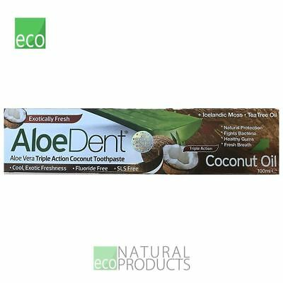 AloeDent Natural Toothpaste Coconut Oil 100ml