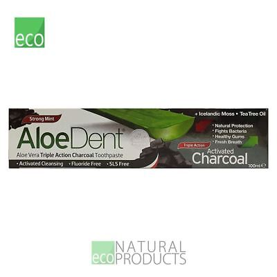 AloeDent Natural Toothpaste Activated Charcoal 100ml