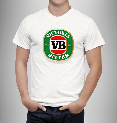 VB T-Shirt white new victoria bitter beer hangover drunk party Tshirt white tee