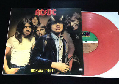 """AC/DC Highway To Hell vinyl 12"""" LP EX/EX red colored heavy ac dc acdc"""