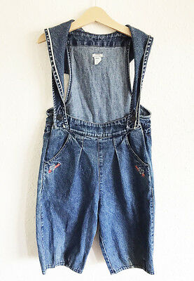Vintage Kids 90s French Catimini Designer Denim Cotton Nautical Dungarees 5 6 Y