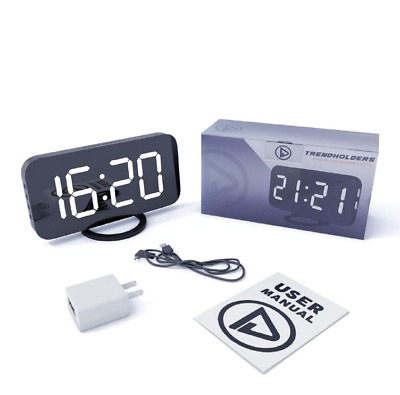 Digital Alarm Clock with Large LED Dimmer Display for bedrooms, Dual USB...
