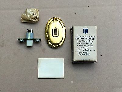 Edwards no 642 brass door bell button push NOS VINTAGE from old estate WOW