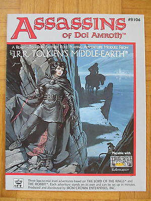 ASSASSINS OF DOL AMROTH Middle-Earth MERP #8106 frpg lord rings Rolemaster mers
