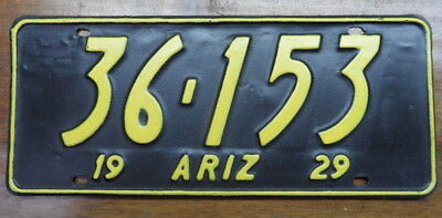 Cool 1929 Arizona License Plate Rustic Style Restoration 36 153 Dmv Clear!