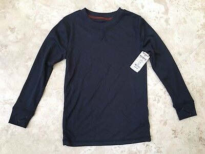 NEW Climatesmart Comfortech Poly Boys Base Layer Shirt Navy Size XS
