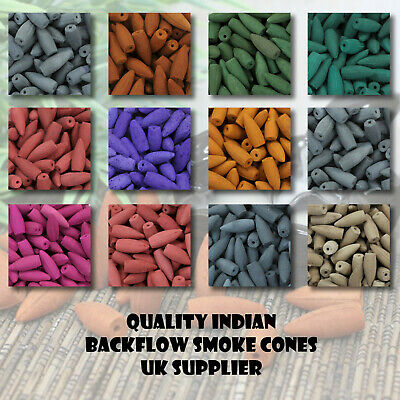 50 or 40 Incense cones large Indian Various types many fragrances Top Quality