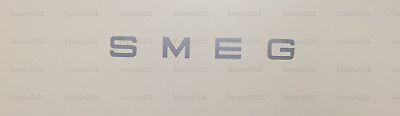 4 Silver Vinyl Letters Decals badge SMEG To Fit Refrigerator Kettle Toaster Logo