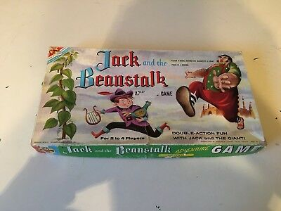 Vintage 1957 Transogram Jack and the Beanstalk Adventure Boardgame missing parts