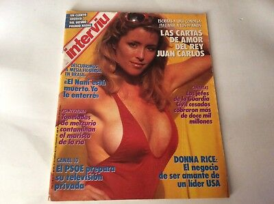 INTERVIU  611 DONNA RICE 7 paginas, 10 fotografias spanish magazine vintage 1988