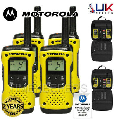 10Km Motorola TLKR T92 Floating Walkie Talkie 2 Way PMR 446 Security Radio Quad
