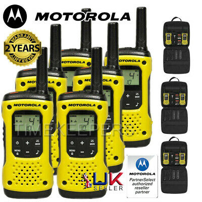 10Km Motorola TLKR T92 Floating Walkie Talkie 2 Way PMR 446 Security Radio Six