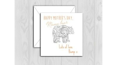 MOTHERS DAY CARD FROM THE BUMP CUTE TO THE MUM TO BE MUMMY BABY PREGNANT SML