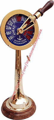 """Nautical Brass Telegraph 18"""" With Both Side Sound Bell Maritime Vintage Decor"""