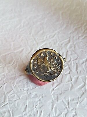 Ancient  Ring Seal  Vintage Antique Roman ring in original style