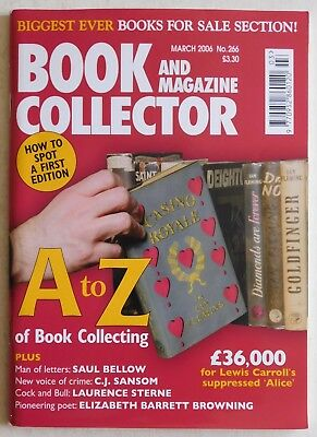 BOOK & MAGAZINE COLLECTOR #266 - 3/2006 - Saul Bellow, Elizabeth Browning