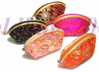 Wholesale Lot Of 5  Chic And Vouge New Ladies Handmade Silk Chinese Coin Bags