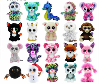 Adorable peluches type ty beanies animaux mignons cute - Animaux a gros yeux ...