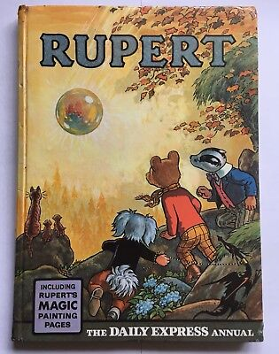 Rupert 1968 Annual MAGIC PAINTINGS UNTOUCHED, UNCLIPPED, Very Good Condition