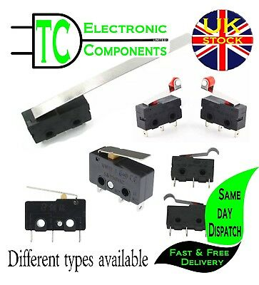 5A 250V Micro Switch different leaver lengths/types available **UK SELLER**