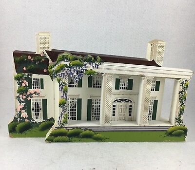 Gone With The Wind Tara Wooden House Sheila's Collectibles 1995 Signed Old South