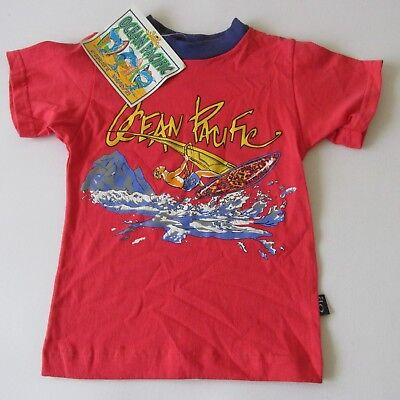 Vtg 90s OP Ocen Pacific Toddler Unisex Short Sleeve T-Shirt Surf Deadstock 3T