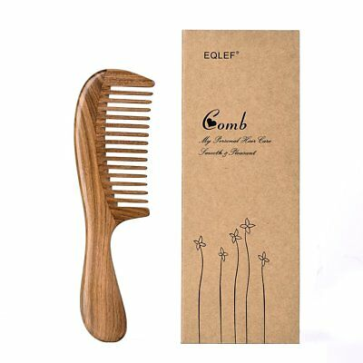 EQLEF Green sandalwood wide-tooth Natural comb, Large sandal wood comb (g8x)