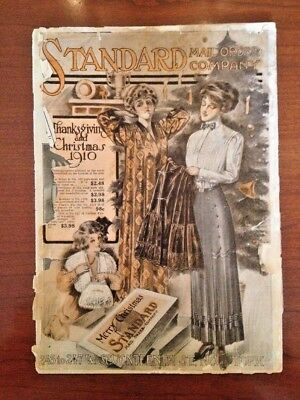 Antique Standard Mail Order Company Catalog 1910  Fun Read!  Great for Project!
