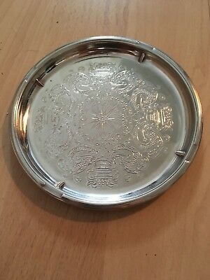 antique silver plate ashtray collect