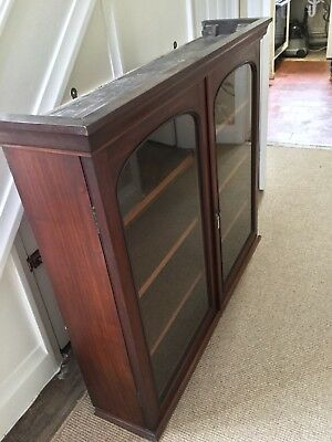 Antique Victorian Mahogany Glazed Bookcase/Cabinet Display Case
